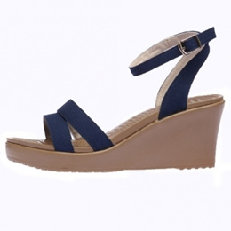 40b9602c3ae COUPON · SNRD by Paperplanes Women Wedge Heel Shoes Sandal Strap SN212 Navy