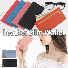 [Limited-time special price] May New Update / Authentic Cowhide Leather Slim Long Compact Wallet