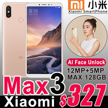Authentic Xiaomi Mi Max 3 Smartphone Big 6.9inch 4GB/6GB+64GB/128GB 4G LTE Mobile Phone Max3 Android