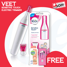 [RB] Veet - Sensitive Touch Electric Trimmer | For Beautiful And Touchably Smooth Skin (FREE GIFTS!)
