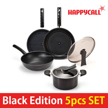 ★Free Ship★ HappyCall Black Edition Pan 5-set ★Lowest in Qoo10★ Frying pan for the perfect cooking
