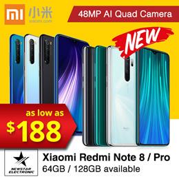 Xiaomi Redmi Note 8| Note 8 Pro| 6GB 128GB 48MP Quad Cameras Smartphone| Mobile Phone Earphone