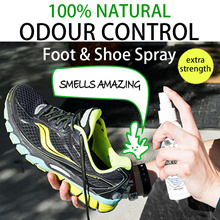 ♥NATURAL SHOE DEODORIZER♥Smelly feet Sports Shoes Gym Extra Strength ESSENTIAL OIL. Odour Control