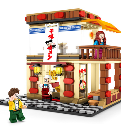 Sale! Big Lego Compatible Sembo Block Street Series with Figurine  Collection Children Gift