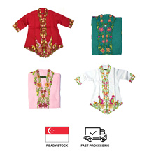 Toddler Kids Girls Peranakan Nonya Kebaya w/ Skirt Set