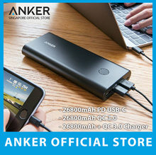 Power Delivery Anker Powercore+ 26800mah⚡Quick Charge 3.0⚡ PowerBank USB Charger Cable