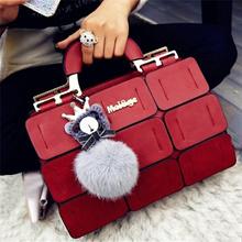Boston Bag Ladies Hand Bag Women PU Leather Handbag Sac Woman Bags Handbags Office Lady Messenger Ba