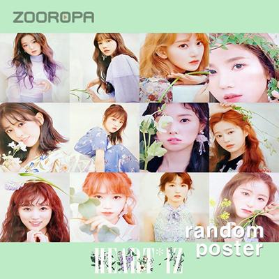 (KPOP) (poster) IZONE Mini Album Vol  2 HEART IZ Violet (1 bromide +  through) / cp19005, K-pop Idol