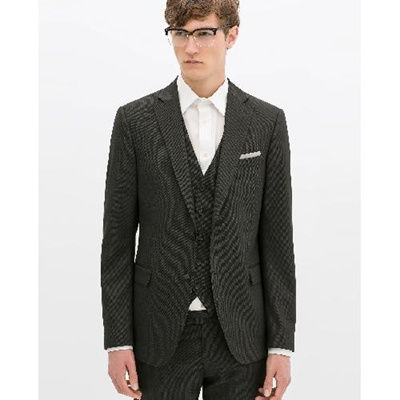 528ded64 Qoo10 - (Zara)/Men/Suits Sport Coats/DIRECT FROM USA/BIRDSEYE SUIT ...