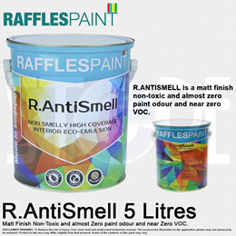 Raffles Paint R.Anti-Smell Emulsion Paint 5 Lites MADE IN SINGAPORE
