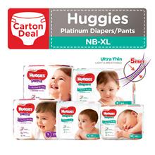 [Carton Deal] HUGGIES Platinum Diapers Tape / Pants