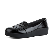 FITFLOP FRINGEY SNEAKER LOAFER BLACK ★100% Authentic★