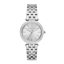MICHAEL KORS PETITE DARCI QUARTZ MK3364 SILVER WOMENS WATCH