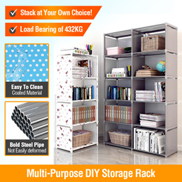 Assemble Bookshelf Non-woven Storage Rack Removable Book Shelf Stand Holder Bookcase Furniture