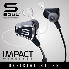 SOUL Electronics IMPACT WIRELESS High Efficiency Bluetooth Earphone Fashion Lifestyle Local Warranty