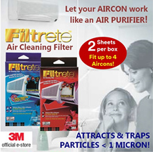 [Official E-Store] Filtrete™ Air Cleaning Filters - Haze /Aircon Filter / Air Purifier / Odour Contr
