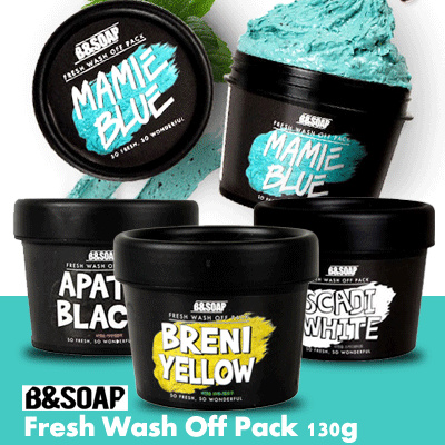 B and SOAP Fresh Wash Off Pack 130g Deals for only Rp176.500 instead of Rp176.500
