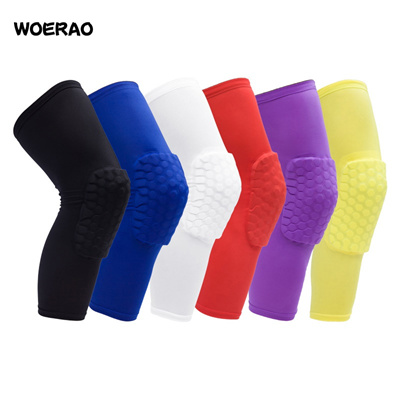 f8eac362946ad WOERAO 1 Piece Sports Protective Basketball Kneepad Football Knee Pads  Brace Supplies Crash Leggings