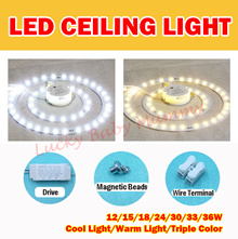 【LED Ceiling Light】 Magnet LED Light With Cover★12W to 36W ★Cool White★Warm White★Tri-Color
