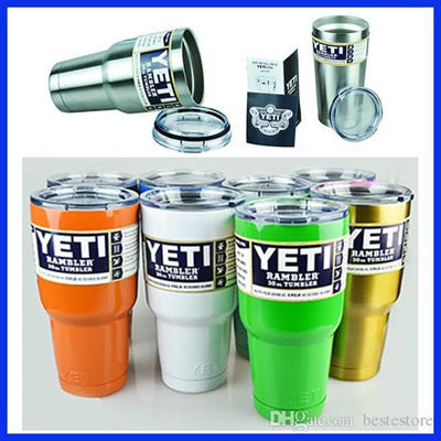 Factory Sale High Quality Stainless Steel Colorful 20oz 30oz Yeti Rambler  Tumblers Coolers Cups 10oz