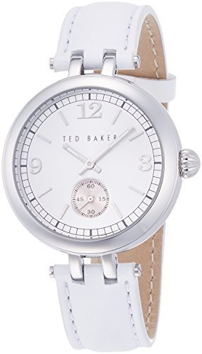 1cb907c0e Ted Baker Womens 10023474 Classic Analog Display Japanese Quartz White Watch