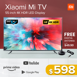 Xiaomi 55-inch 4K Ultra HD Smart LED TV Digital Ready Android TV with Google Playstore Youtube