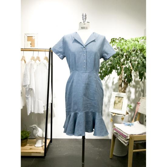 スタジオホワイトベラフリルのワンピースMC720S817 面ワンピース/ 韓国ファッション