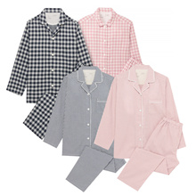 [MUJI Japanese genuine] unattended cotton pajamas SET Specials / couples. Newlyweds recommendation system / unmanned goods Popular home wear set top / Newlyweds recommended gift