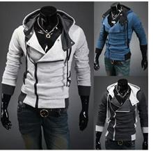 Men Fashion Casual Slim Cardigan Assassin Creed Hoodies Jacket Sweatshirt Outerwear WY001-x