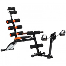 Six Pack Care Sit Up Bench Super Six Power Workout Station Fitness Equipment Muscle