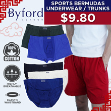 $9.90 BYFORD UNDERWEAR / BERMUDAS / BRIEFS | 8 CHOICES | FREE DELIVERY