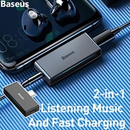 Baseus USB Type C to 3.5mm Headphone Jack AUX Adapter For Huawei P20 P30 Pro Xiaomi Redmi Note 7