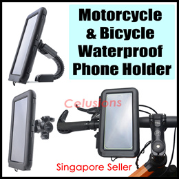 Waterproof Bicycle Motorcycle Plastic Phone Handphone Casing Holder Pouch Accessories SG Seller