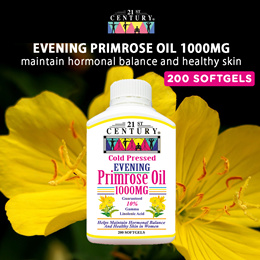 [21st Century] Evening Primrose Oil 1000mg (200s)