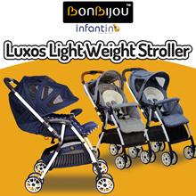 【BONBIJOU】Luxos Light Weight Stroller (Light Blue / Light Grey / Navy Blue