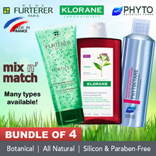 ❤ Bundle of 4 + MIX N MATCH! ❤ BOTANICAL SHAMPOO FR KLORANE | RENE FURTERER | PHYTO.