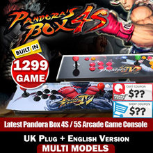 【SG Best Deal】Latest Pandora Box 4S / 5S Arcade Game Console 815 / 986 / 999 / 1299 Games Jamma Plug and Play on TV丨UK Plug + English Version FREE SHIPPING!!