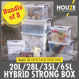 ONLINE EXCLUSIVE ♦Bundle Of 3 ♦ 20L/28L/35L/65L ♦ Hybrid Strong Box ♦ Strong And Durable ♦ Stackable