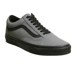 1b8e86c26b611e 반스 Vans Old Skool Trainers Pewter Black Vansbuck