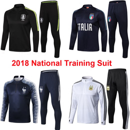 2018 National Training Suit France Italy Croatia Netherland Brazil South Korea Sportwear夹克