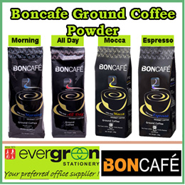 Boncafe Ground Coffee Powder Morning/All Day/Mocca/Espresso 200gX12/ carton. Sell by carton.