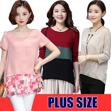 Plus size Chiffon short-sleeved T-shirt/Loose Casual tops/Elasticity/Comfortable/shorts cowboy/cotto