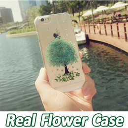 ★Real Press Flower Case★iPhone 5S / 5 / 6S / 6 Casing iPhone 6S Plus / 6 Plus /Samsung Galaxy Note 3 4/Casing Case Cover/Clear Case/Luxury Texture/ Soft Grip★100% Satisfaction Thin Fit