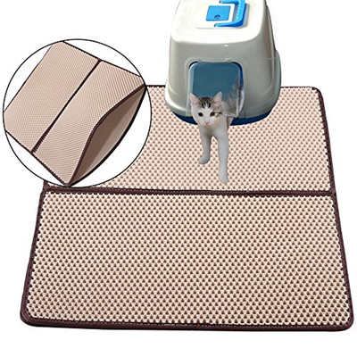 ac7824361 Cat Kitty Litter Trapping Mat - Double Layer Honeycomb Extra Large Size (  30 x 23in