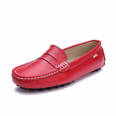 c2951959b53 SUNROLAN Casual Womens Genuine Leather Penny Loafers Driving Moccasins Slip-On  Boat Flats Shoes