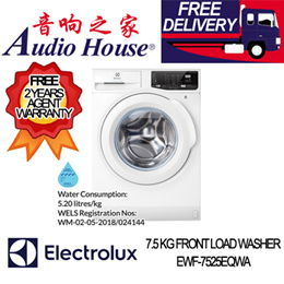 ELECTROLUX EWF-7525EQWA 7.5 KG FRONT LOAD WASHER ***2 YEARS ELECTROLUX WARRANTY***