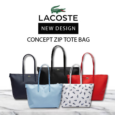daddca95e08 MOTHER DAY SPECIAL | LACOSTE L.12.12 CONCEPT ZIP TOTE BAG