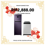 [RM2,888.00 After Coupon Applied] Samsung 410L Twin Cooling Plus Fridge + 10KG Top Load Washing Machine *ORIGINAL PACKAGING/SEALED* MY Warranty/Malaysia