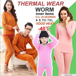 【6th November UPDATE】2014 Winter Thermal Inner Wear(Thick)0 to -35 degree PANT+SHIRTS Leggings celsius/Couple Warm Clothing Innerwear Unisex Underw PLUS SIZE XL-6XL
