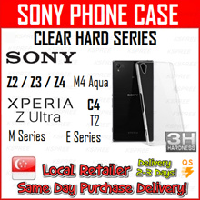 ★SG SELLER★ SONY Clear Hard Nude transparent Case Lowest Price Xperia Neo / Z2 / Z3 / Lt 30I 26W 21I X12 26I 22I 29I 28I 18I 27I 25I